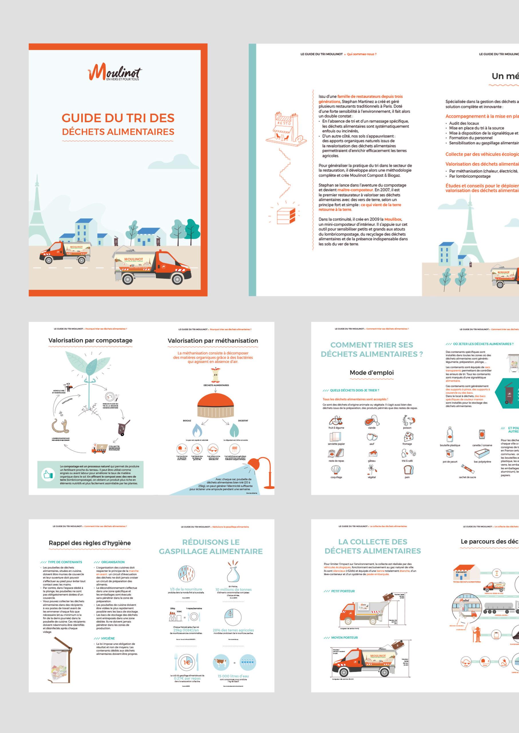 Studio Mijote agence de communication visuelle éco-responsable Nantes Paris guide du tri Moulinot
