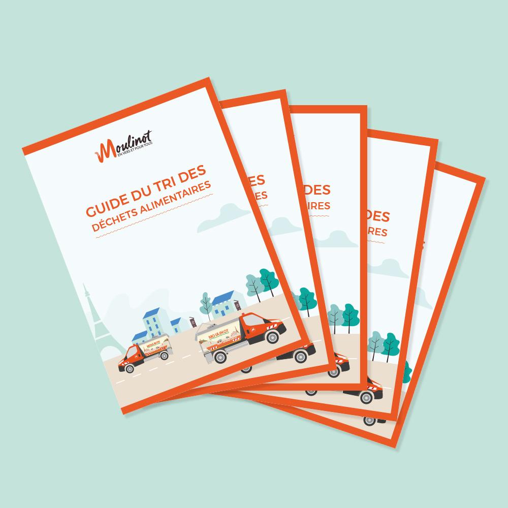 Studio Mijote agence de communication viseulle éco-responsable Nantes Paris guide du tri Moulinot