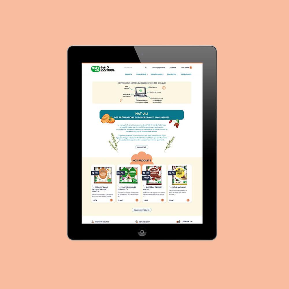 Natali, boutique en ligne éco-conçue